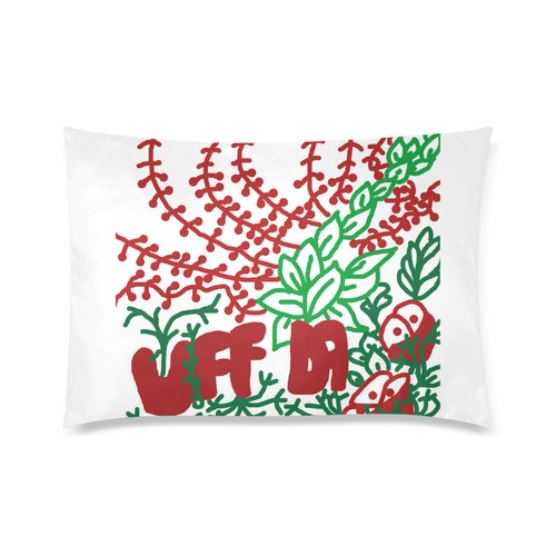 "Uff Da Tangle Garden Flowers Custom Zippered Pillow Cases 20""x30"" (one side)"