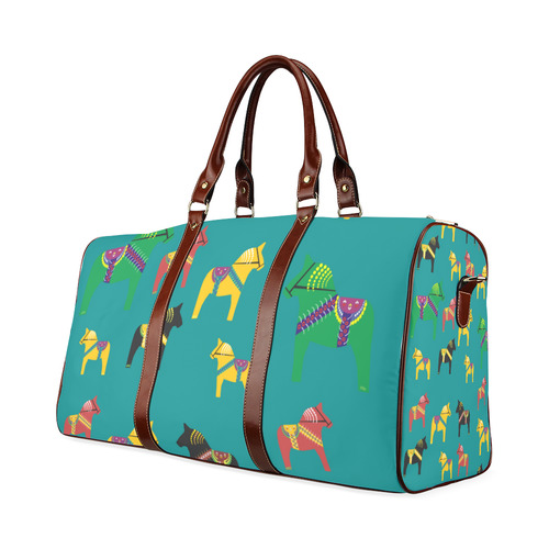 Dala Horses Decorative and Cute Waterproof Travel Bag/Small (Model 1639)