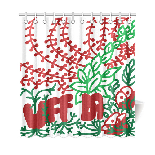 "Uff Da Tangle Garden Shower Curtain 69""x72"""