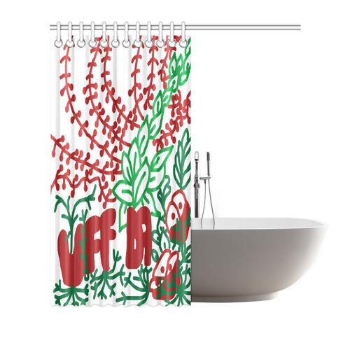 """Uff Da Tangle Garden Shower Curtain 72""""x72"""""""
