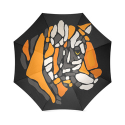 Cool Bold Tiger Abstract Art Foldable Umbrella