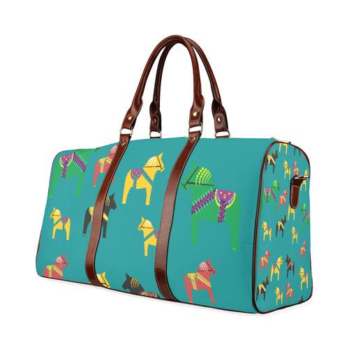 Dala Horses Decorative and Cute Waterproof Travel Bag/Large (Model 1639)