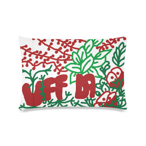 "Uff Da Tangle Garden Custom Zippered Pillow Cases 16""x24""(Twin Sides)"