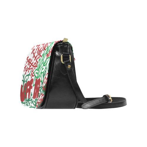 Uff Da Tangle Garden Classic Saddle Bag/Large (Model 1648)