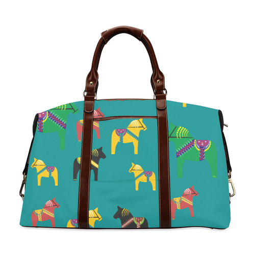 Dala Horses Decorative and Cute Classic Travel Bag (Model 1643)