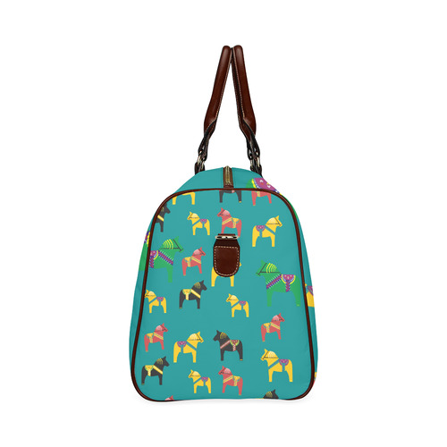 Dala Horses Decorative and Cute Waterproof Travel Bag/Large (Model 1639)