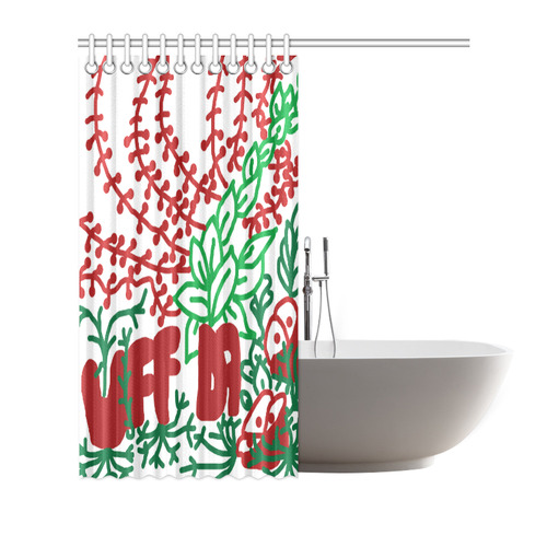 "Uff Da Tangle Garden Shower Curtain 66""x72"""