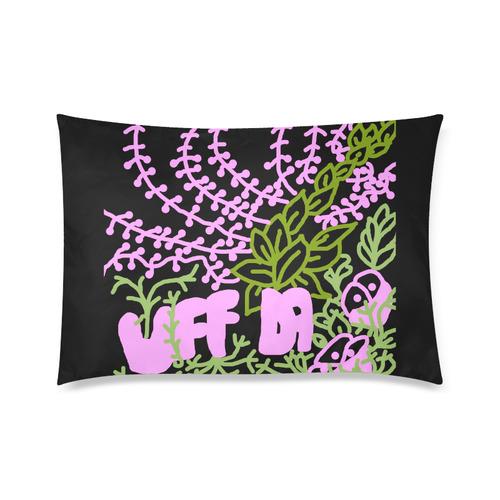 """Uff Da Tangle Garden Flowers Pink Green Black Custom Zippered Pillow Cases 20""""x30"""" (one side)"""