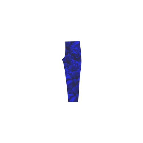 A202 Blue Peaks Abstract Capri Legging (Model L02)