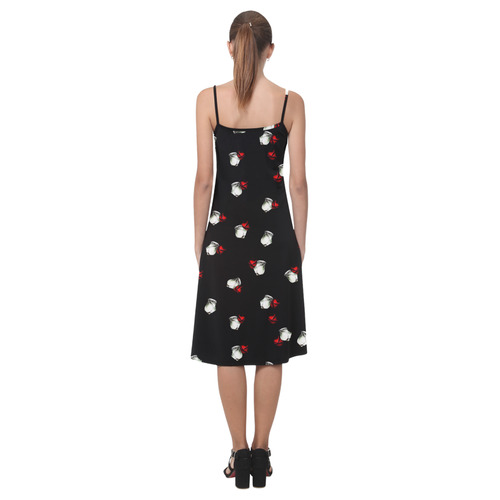 White and Red Roses Alcestis Slip Dress (Model D05)