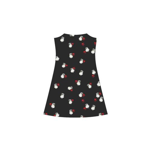 White and Red Roses Alcestis Slip Dress (Model D05)