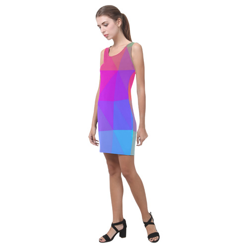 Triangle Rainbow Abstract Medea Vest Dress (Model D06)