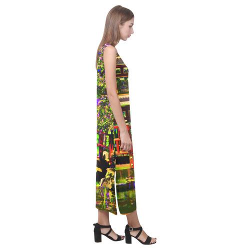 VELA Phaedra Sleeveless Open Fork Long Dress (Model D08)