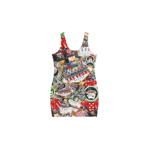 Las Vegas Icons - Gamblers Delight Medea Vest Dress (Model D06)