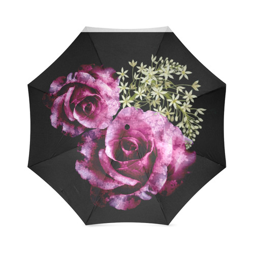 floral heart Foldable Umbrella (Model U01)