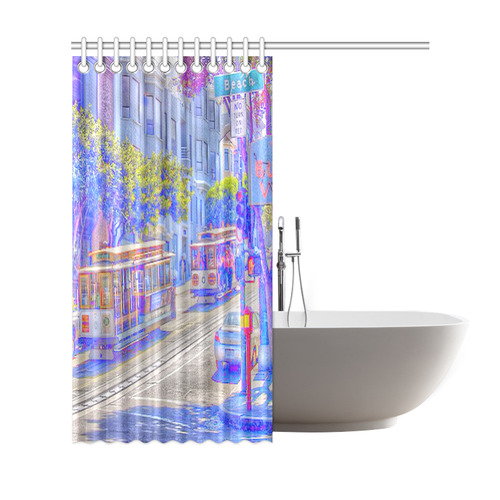 San Francisco Neon Shower Curtain