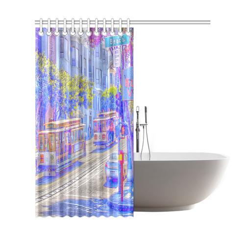 San Francisco Neon Shower Curtain