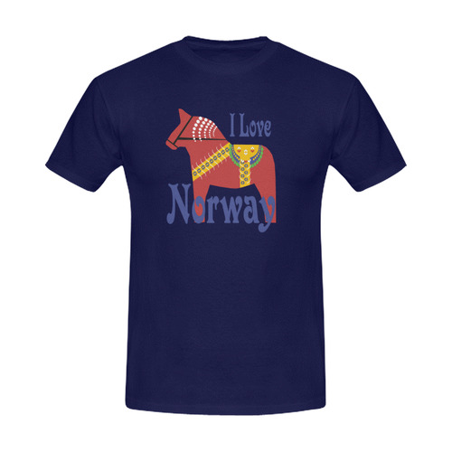 Dalahorse I Love Norway Men's Slim Fit T-shirt (Model T13)