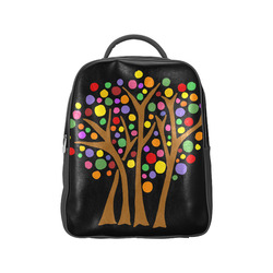 cool artsy trees abstract art popular backpack model 1622