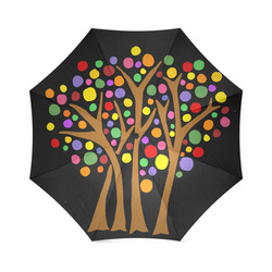 cool artsy trees abstract art foldable umbrella