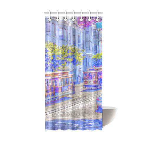 San Francisco Neon Shower Curtain 36x72