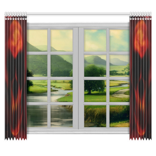 "Insanity curtain set Window Curtain 50""x84""(Two Piece)"
