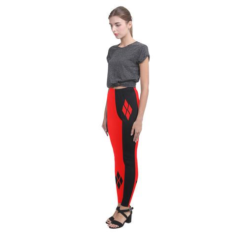 Red & Black Harlequin Cassandra Women's Leggings (Model L01)