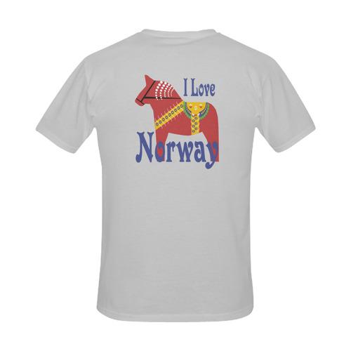 Dalahorse I Love Norway Men's Slim Fit T-shirt (Model T13)