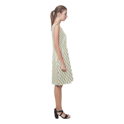 Plaid 2 Chryseis Sleeveless Pleated Dress(Model D07)