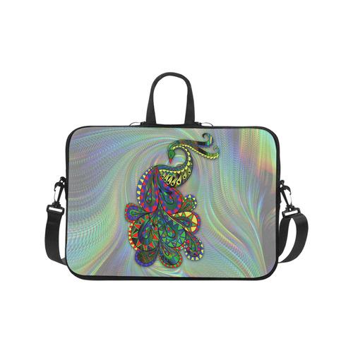 """Abstract Peacock Drawing Laptop Handbags 17"""""""