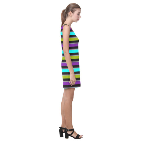 retro stripe 1 Medea Vest Dress (Model D06)