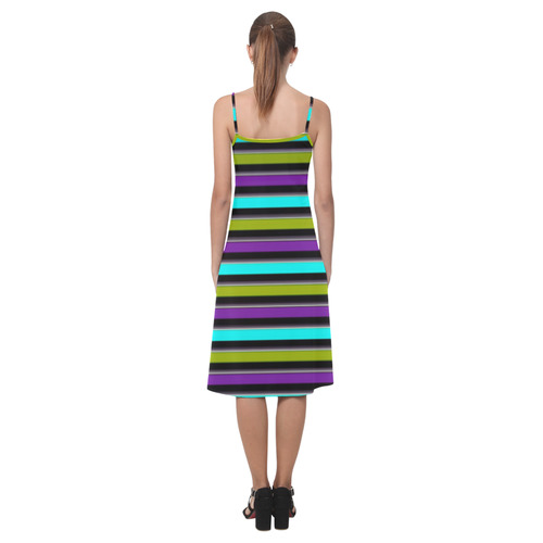 retro stripe 1 Alcestis Slip Dress (Model D05)