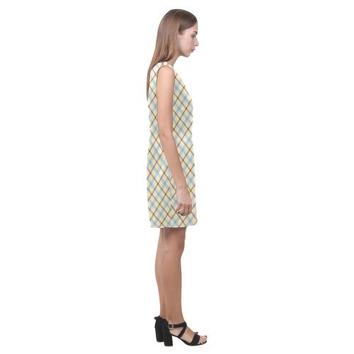 Plaid 2 Phoebe Sleeveless V-Neck Dress (Model D09)