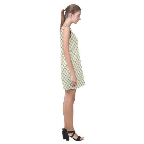 Plaid 2 Helen Sleeveless Dress (Model D10)