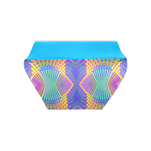 Multicolored Olympic Torches Fractal Abstract Clutch Bag (Model 1630)