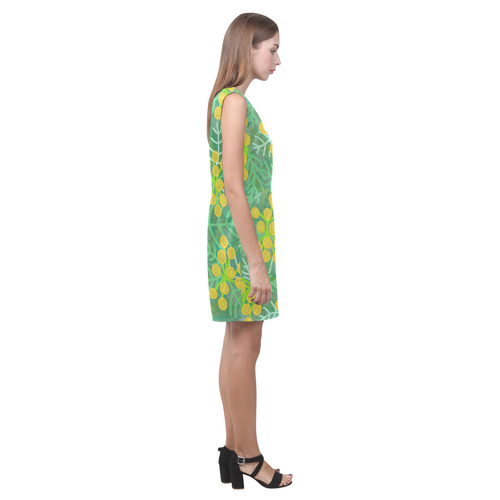 Tansy. Inspired by the Magic Island of Gotland. Phoebe Sleeveless V-Neck Dress (Model D09)