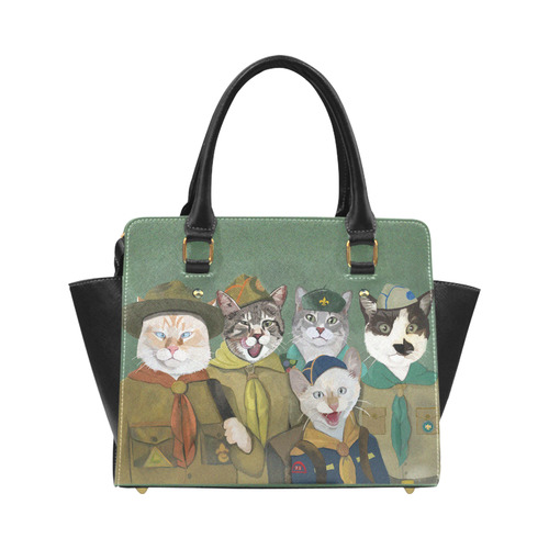 Scouts Gracie, Mau Banzai and Reno plus surprise guest. Classic Shoulder Handbag (Model 1653)