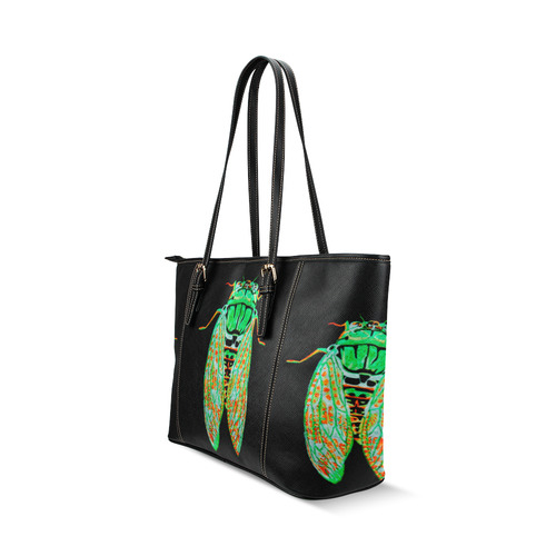 ... cicada inverted leather tote bag Leather Tote Bag Small (Model 1640) ... a4ceacbcde92d