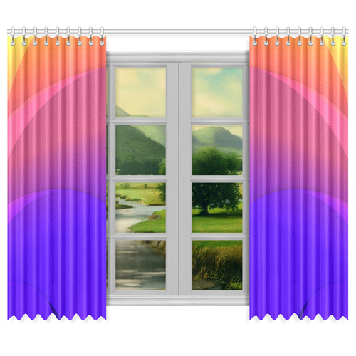 "Color Shift Window Curtain 50""x84""(Two Piece)"