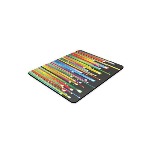 Colorful Stripes and Drops Rectangle Mousepad
