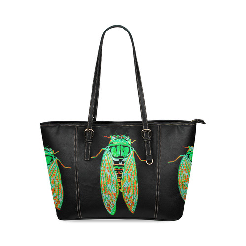 cicada inverted leather tote bag Leather Tote Bag Small (Model 1640 ... 3692045045140