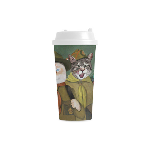 Cat Scouts with Gracie, Banzai and Reno Double Wall Plastic Mug