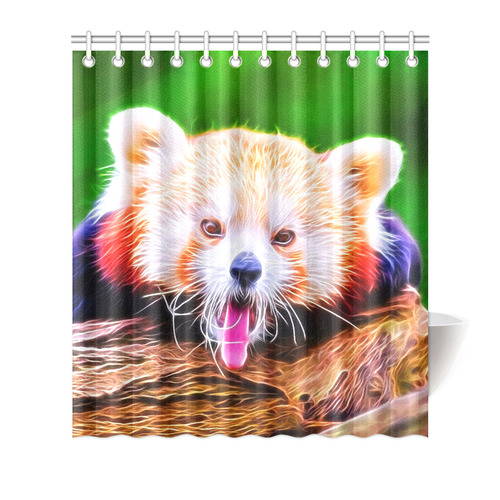Animal ArtStudio 5916 Red Panda Shower Curtain 66x72