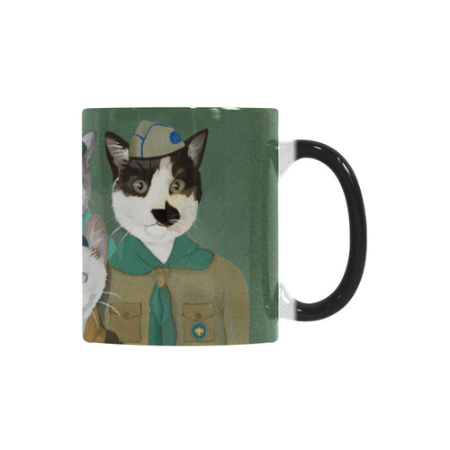 Cat Scout Troop Magic Morphing Mug Custom Morphing Mug