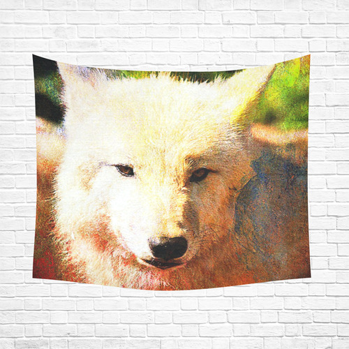 "animal ArtStudio 916 Wolf Cotton Linen Wall Tapestry 60""x 51"""