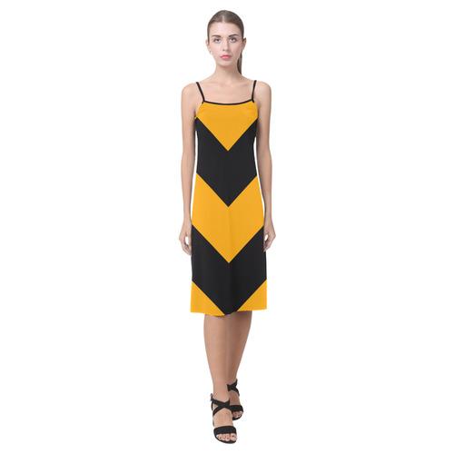 Orange Black Chevron Alcestis Slip Dress (Model D05)