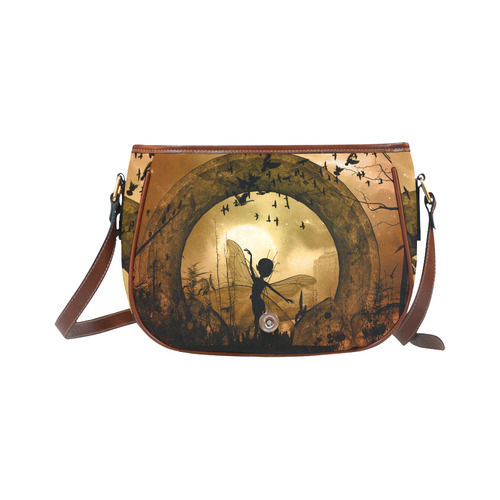 Cute fairy in the night Saddle Bag/Small (Model 1649) Full Customization
