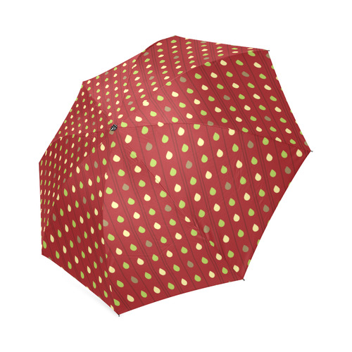 Summer Strawberry Seeds Pattern Foldable Umbrella