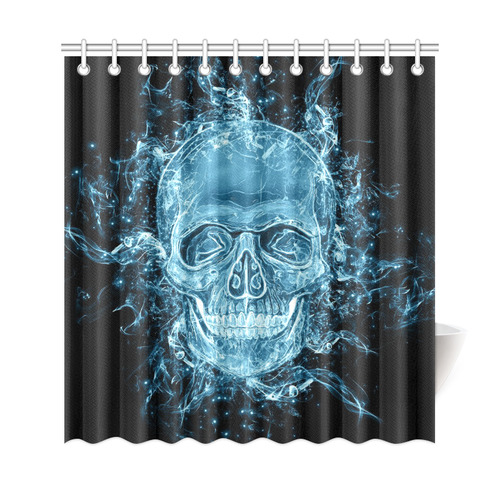 "glowing skull Shower Curtain 69""x72"""