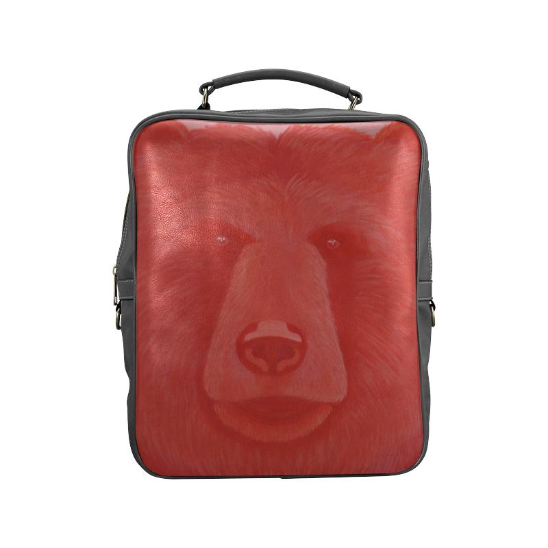 Vermillion Bear Square Backpack (Model 1618)